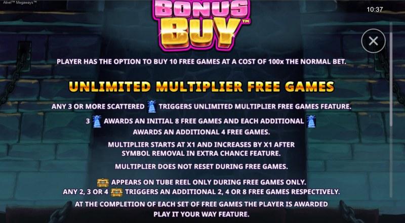 Alive! Megaways :: Unlimited Multiplier Free Games