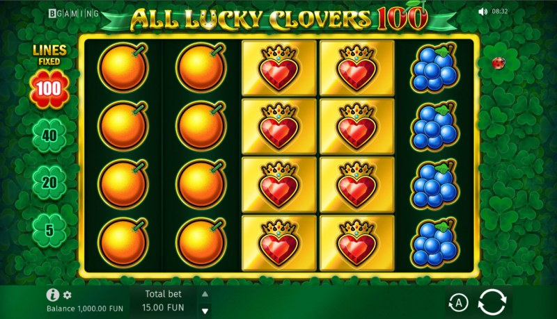 All Lucky Clovers :: Base Game Screen