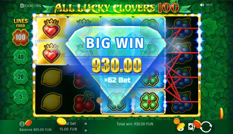 All Lucky Clovers :: Big Win