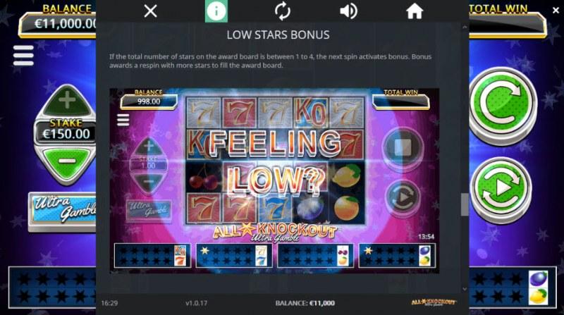 All Star Knockout Ultra Gamble :: Low Stars Bonus