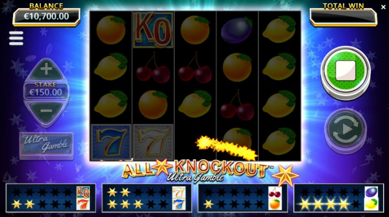 All Star Knockout Ultra Gamble :: Collect stars during game play