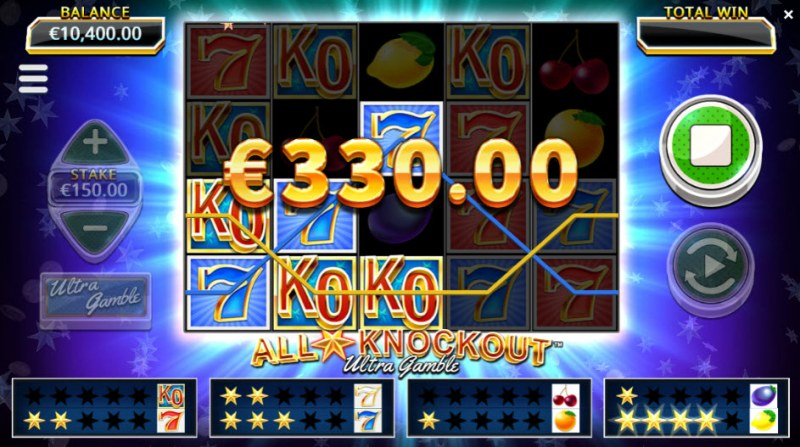 All Star Knockout Ultra Gamble :: Three of a kind