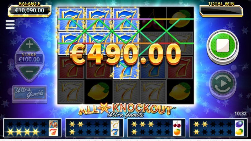 All Star Knockout :: Multiple winning paylines