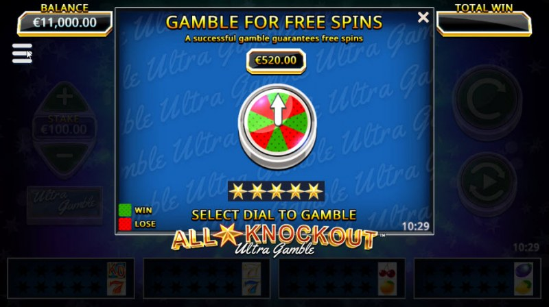 All Star Knockout :: Ultra Gamble Feature