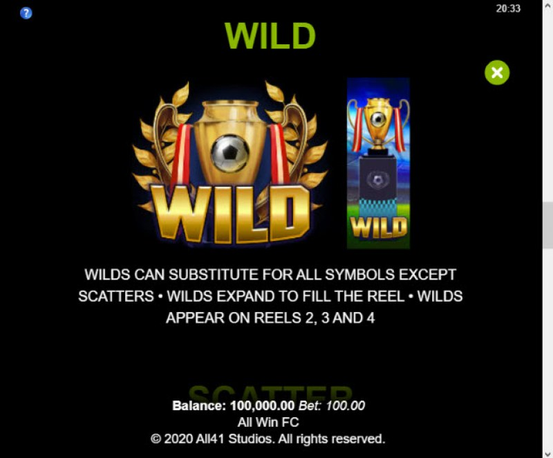 All Win FC :: Wild Symbols Rules