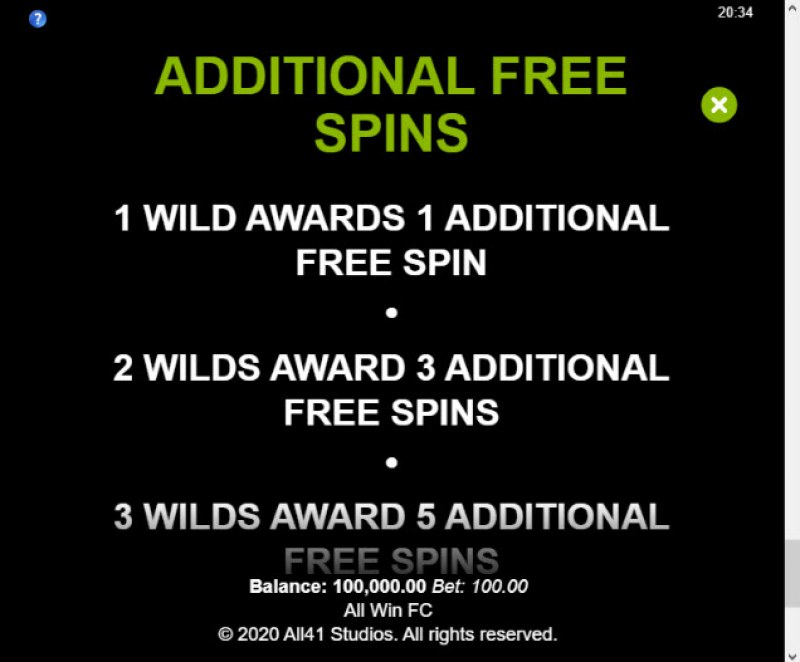 All Win FC :: Additional Free Spins