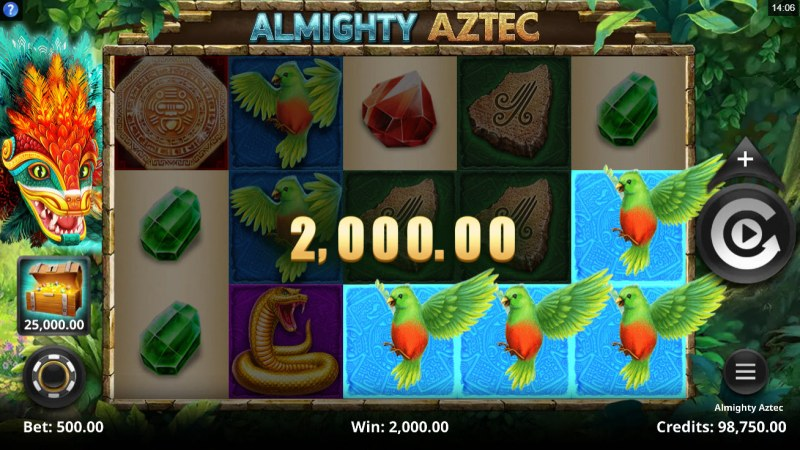 Almighty Aztec :: A three of a kind win