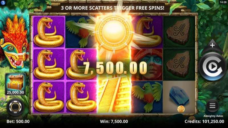 Almighty Aztec :: Multiple winning paylines
