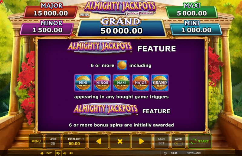 Almighty Jackpots Garden of Persephone :: Bonus Feature
