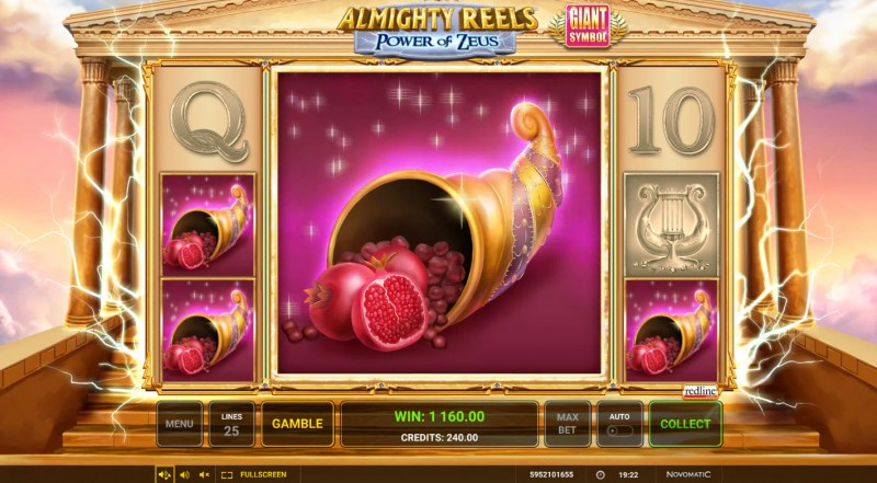 Almighty Reels Power of Zeus :: Giant symbol leads to a big win