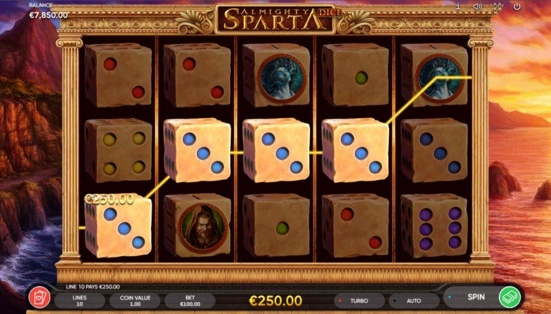 Almighty Sparta Dice :: A four of a kind win