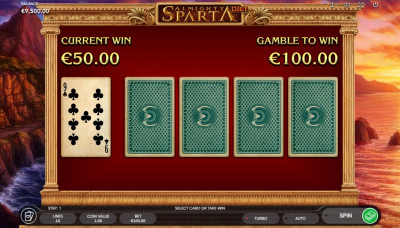 Almighty Sparta Dice :: Red or Black Gamble Feature