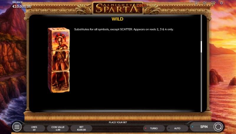 Almighty Sparta Dice :: Wild Symbol Rules