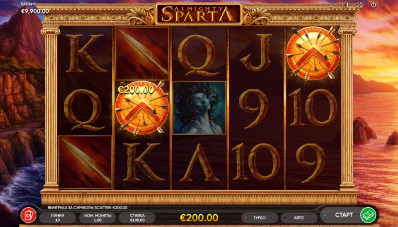 Almighty Sparta :: Scatter Win