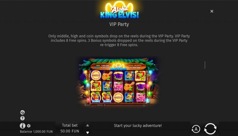 Aloha King Elvis! :: Free Game Rules