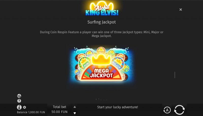 Aloha King Elvis! :: Jackpot Rules
