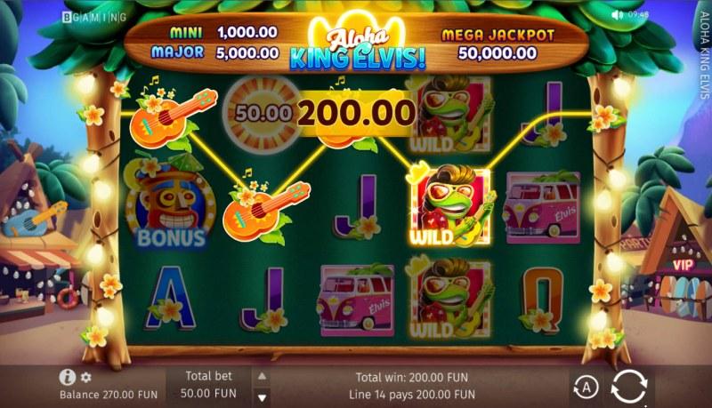 Aloha King Elvis! :: A four of a kind win