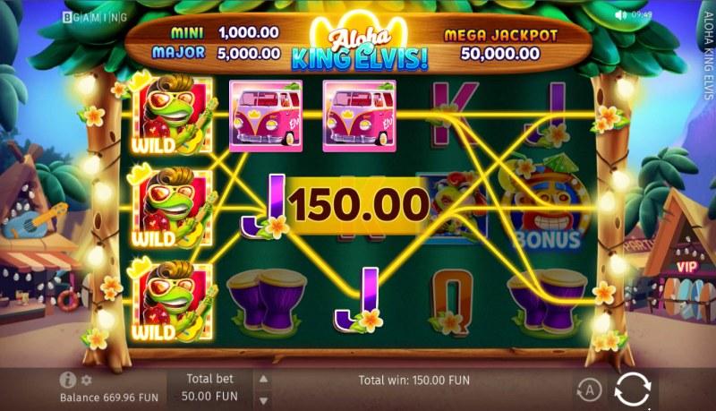 Aloha King Elvis! :: Multiple winning paylines