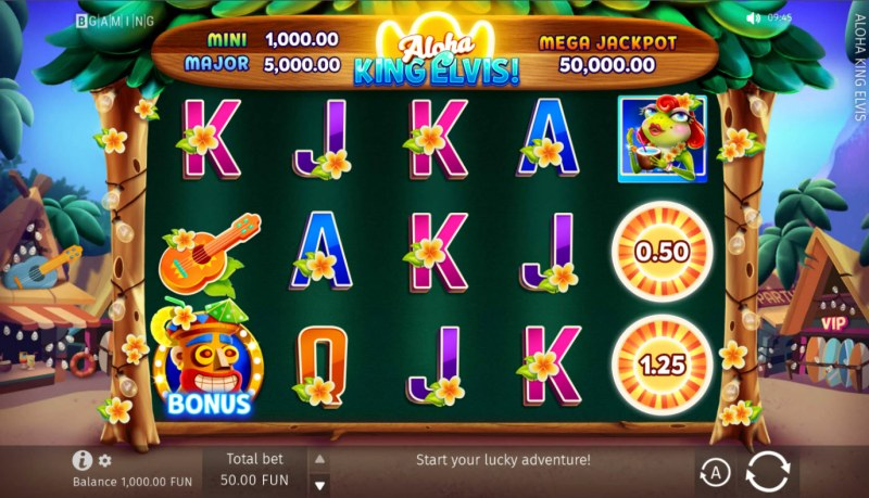 Aloha King Elvis! :: Base Game Screen