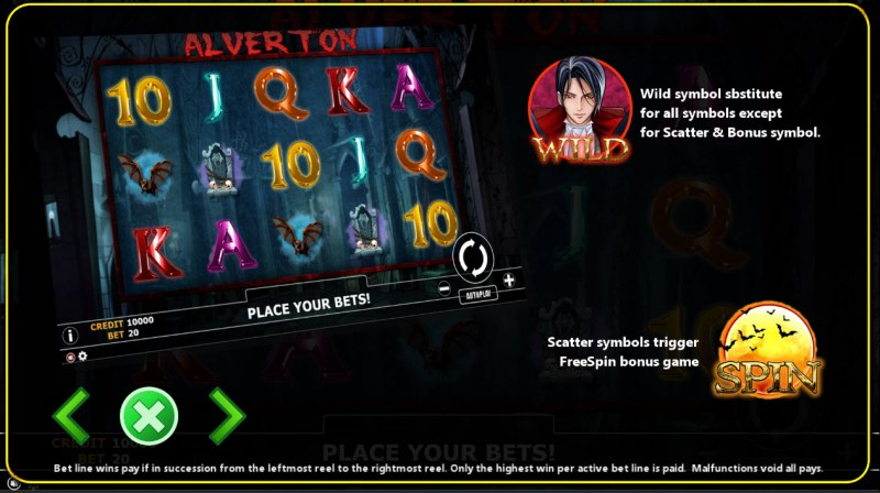 Alverton :: Wild and Scatter Rules