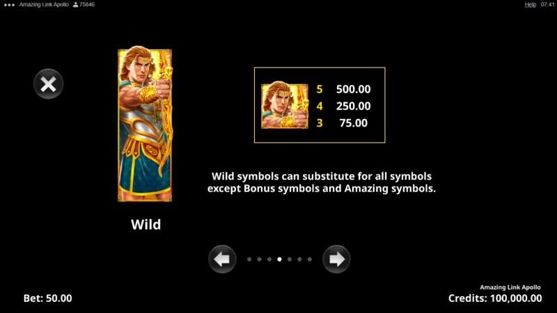Amazing Link Apollo :: Wild Symbol Rules