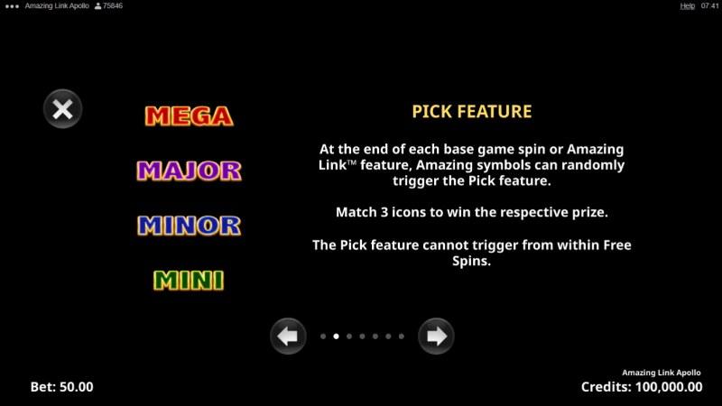 Amazing Link Apollo :: Pick Feature