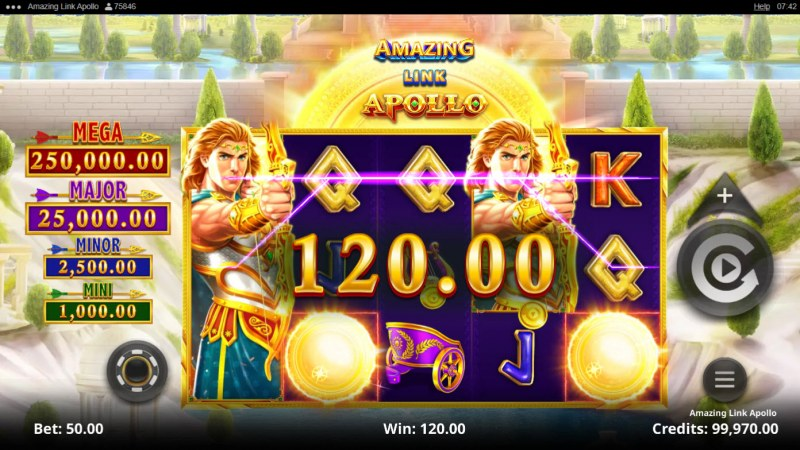 Amazing Link Apollo :: A pair of winning paylines