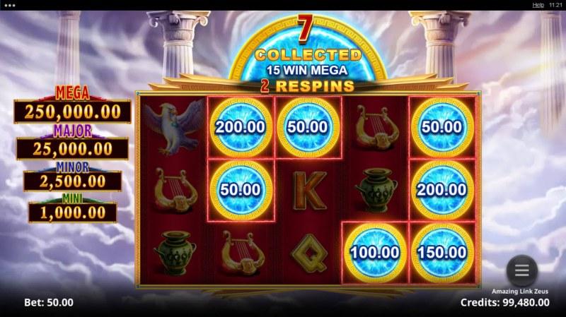 Amazing Link Zeus :: Land amazing symbols to extend game play