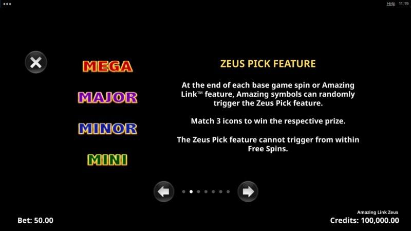 Amazing Link Zeus :: Zeus Pick Feature