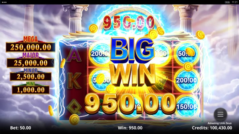 Amazing Link Zeus :: Total Free Spins Payout