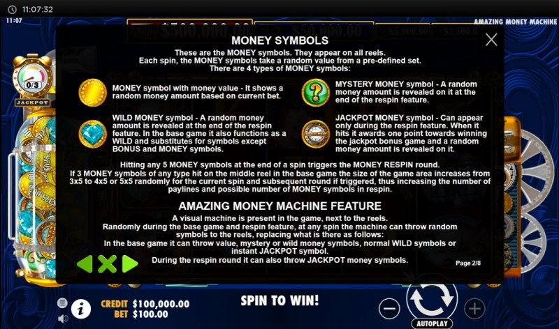 The Amazing Money Machine :: Feature Rules