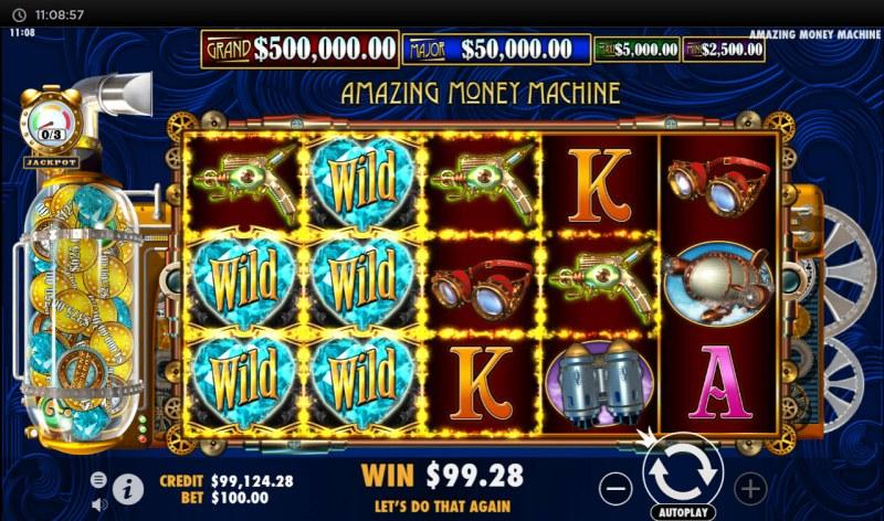 The Amazing Money Machine :: Multiple winning paylines