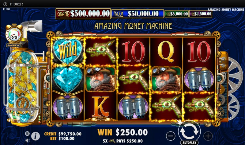 The Amazing Money Machine :: A five of a kind win