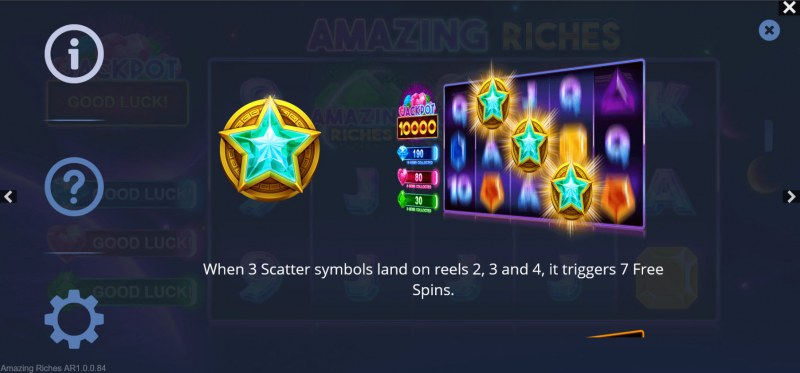 Amazing Riches :: Scatter Symbol Rules