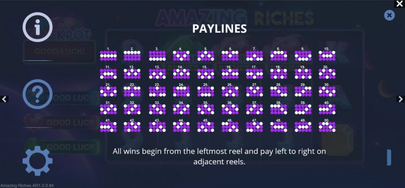 Amazing Riches :: Paylines 1-50