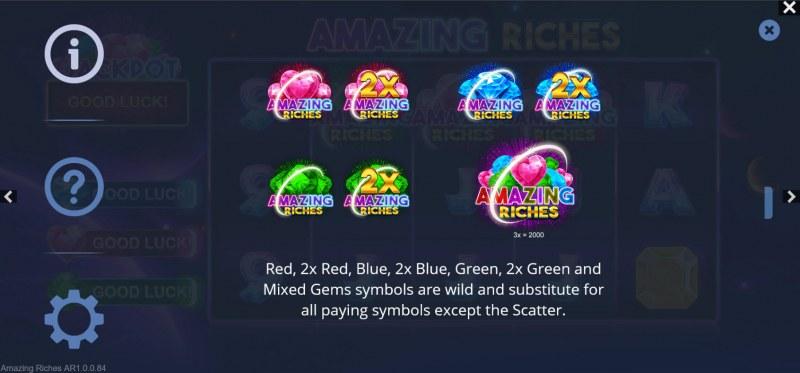 Amazing Riches :: Wild Symbol Rules