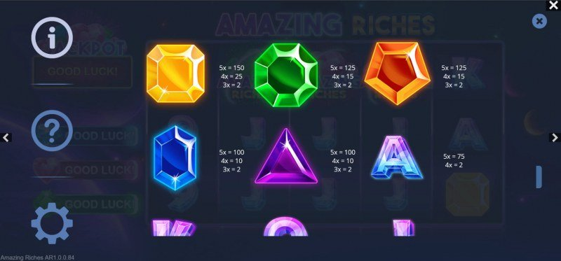 Amazing Riches :: Paytable - High Value Symbols