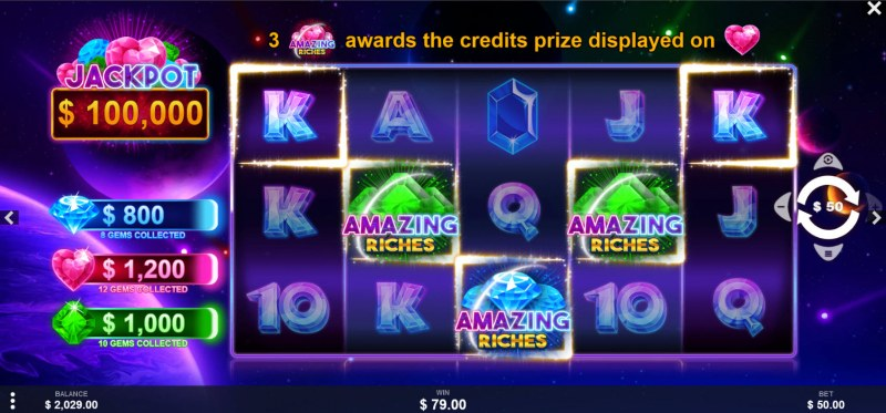 Amazing Riches :: A five of a kind win