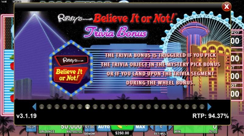 Amazing Ripley's Believe It or Not :: Trivia Bonus