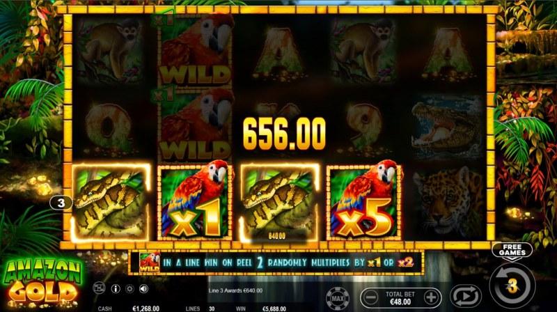 Amazon Gold :: 5X Wild Multiplier
