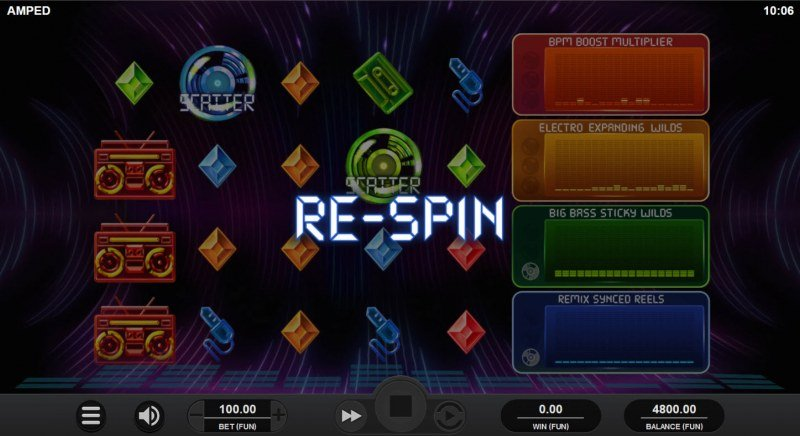 Amped :: Re-spin triggered