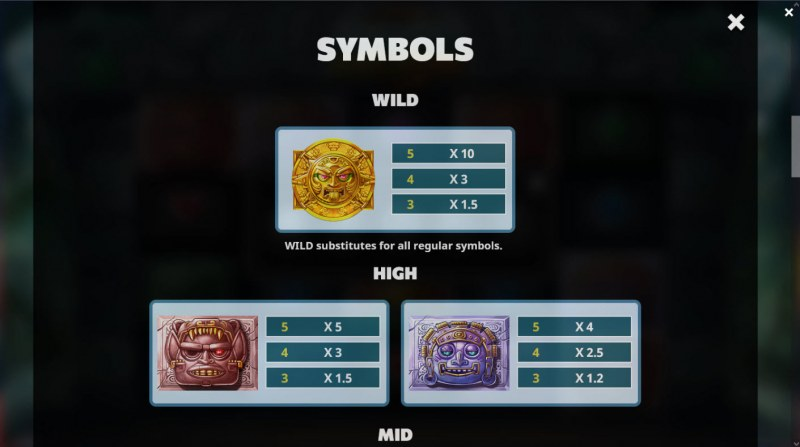 Ancient Eclipse :: Paytable - High Value Symbols