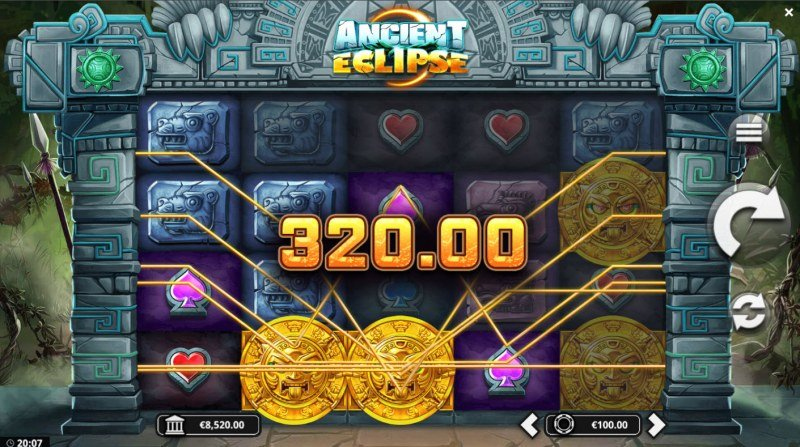 Ancient Eclipse :: Wild feature triggers multiple winning paylines