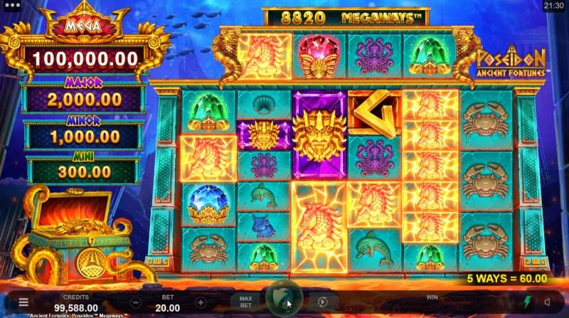 Ancient Fortunes Poseidon Megaways :: Multiple winning combinations