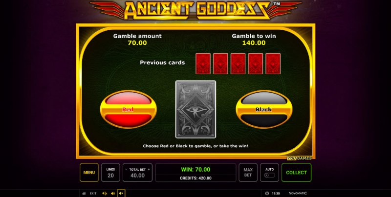 Ancient Goddess :: Black or Red Gamble Feature