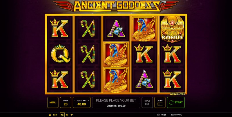 Ancient Goddess :: Main Game Board