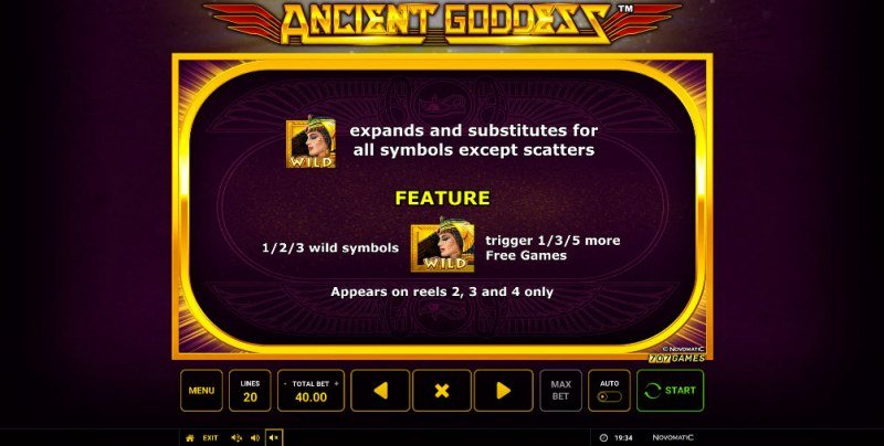 Ancient Goddess :: Wild Symbols Rules
