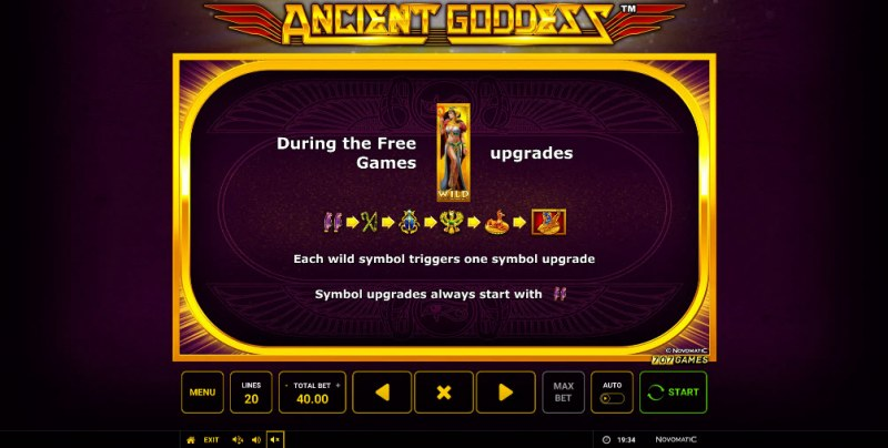 Ancient Goddess :: Free Spins Rules