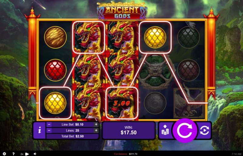 Ancient Gods :: Multiple winning paylines