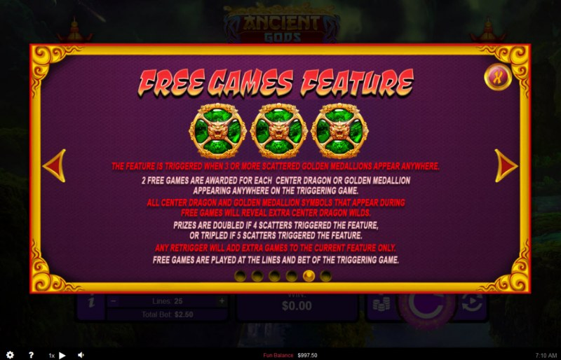Ancient Gods :: Free Spins Rules
